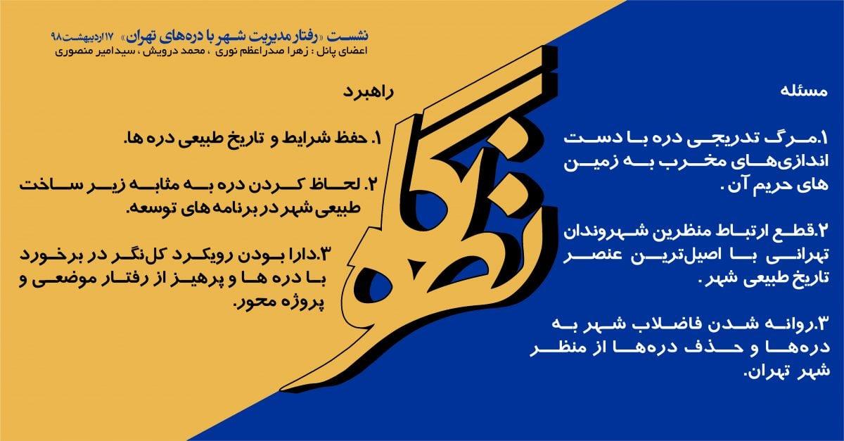 بیانیه نشست «رفتار مدیریت شهر با درههای تهران»