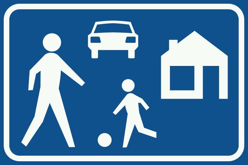 وونرف، منطقۀ آرام ترافیکی و پهنۀ خانگی