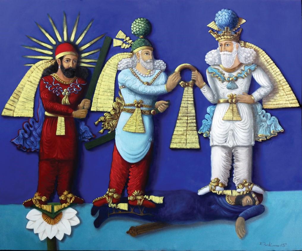 بازآفرینی رنگین سنگنگارههای ساسانی