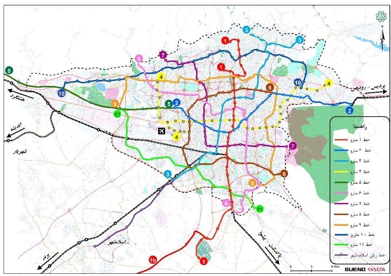 طرح جامع حمل و نقل ریلی تهران، از چه طرح جامعی خط میگیرد؟