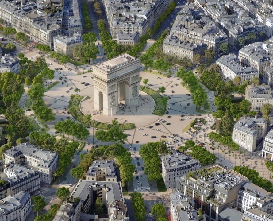 پاریسیها برای طرح جدید خیابان شانزهلیزه رای میدهند