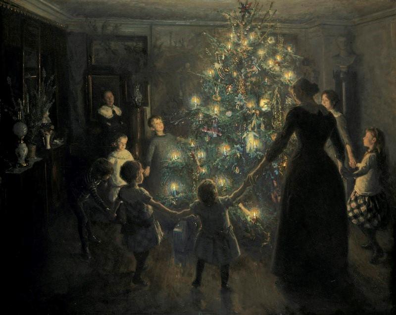 درخت کریسمس اثر Viggo Johansen؛ نقاش دانمارکی