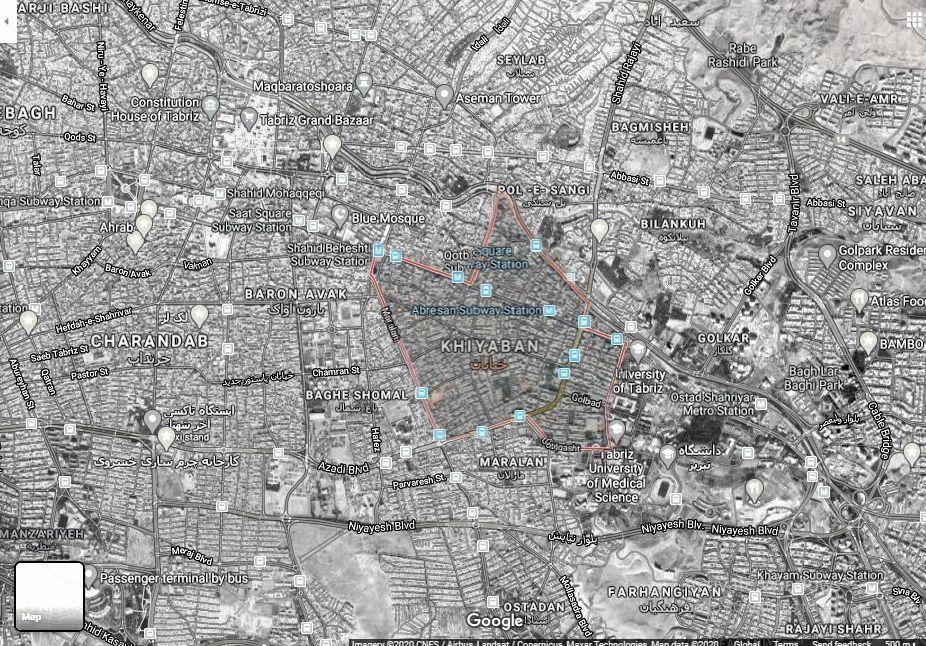 واژهشناسی خیابان با روش نحو فضا
