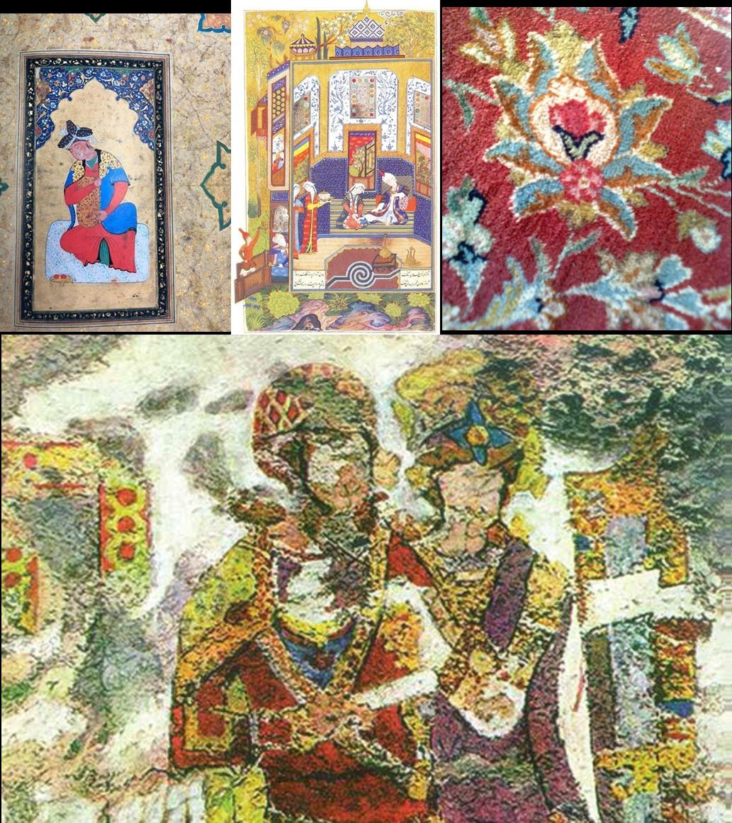 رنگ های نمادین در هنر ایران