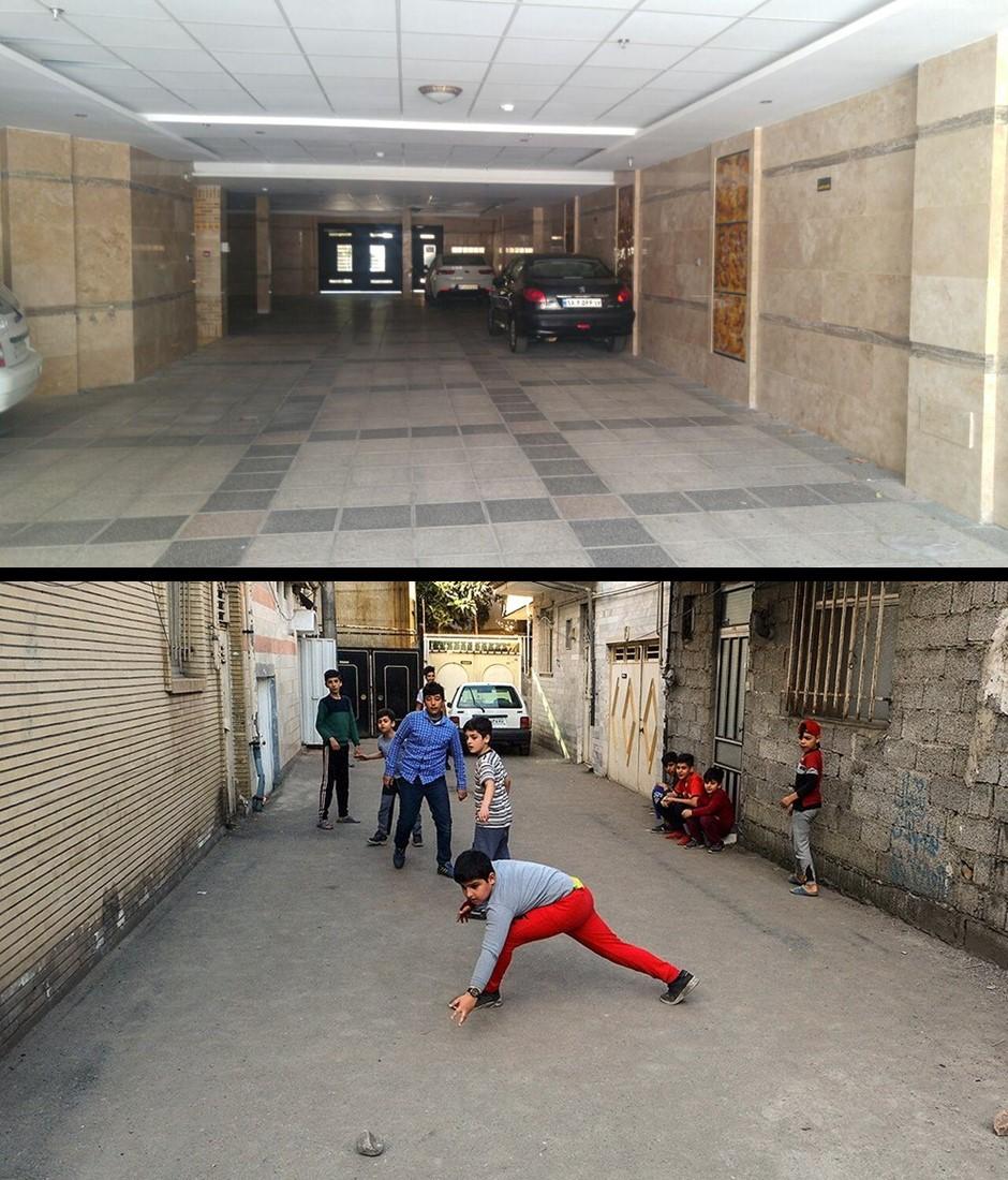 فضای رها شده پارکینگ ها؛ فضای باز جمعی فرزندان آپارتمانهای ایران