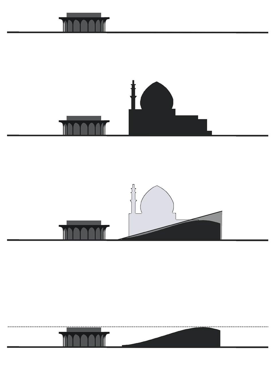 مسجد ولیعصر، تئاتری در شهر